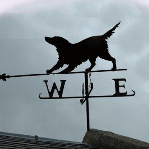 dog iron wrought weathervane