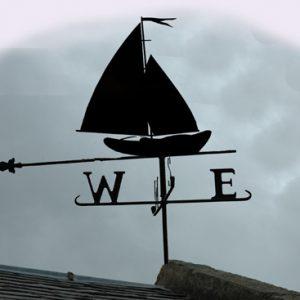 Sailing Dinghy iron wrough weathervane